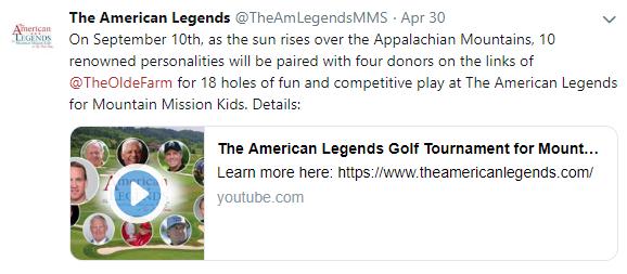 The American Legends Tweet